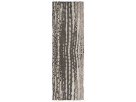 Surya Naya 2'6'' x 8' Rectangular Charcoal, Medium Gray & Ivory Runner Rug