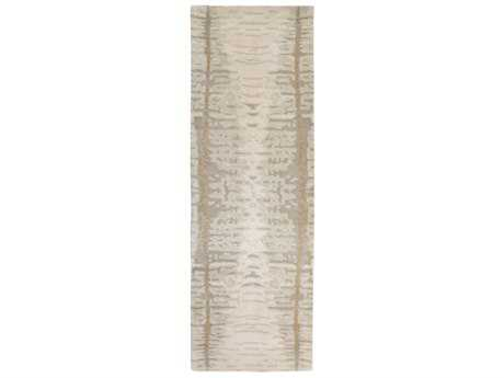 Surya Naya Rectangular Medium Gray, Taupe & Khaki Runner Rug