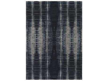 Surya Naya Rectangular Black, Navy & Medium Gray Area Rug