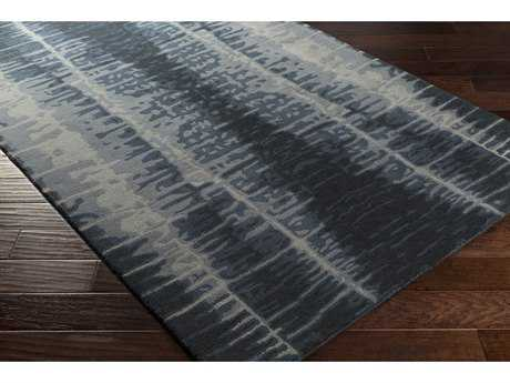 Surya Naya Rectangular Black, Navy & Medium Gray Area Rug