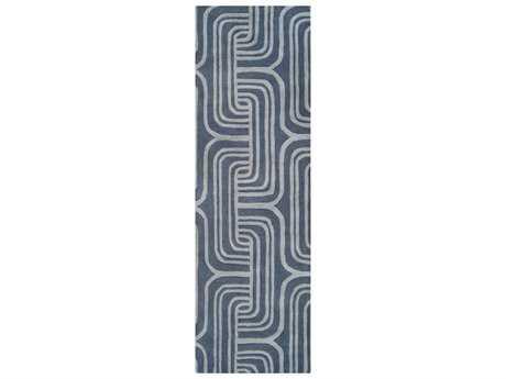 Surya Oasis 2'6'' x 8' Rectangular Navy & Medium Gray Runner Rug