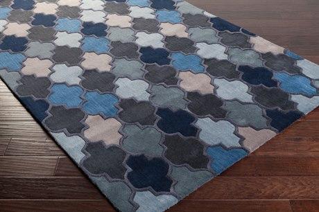Surya Oasis Rectangular Dark Blue, Black & Denim Area Rug