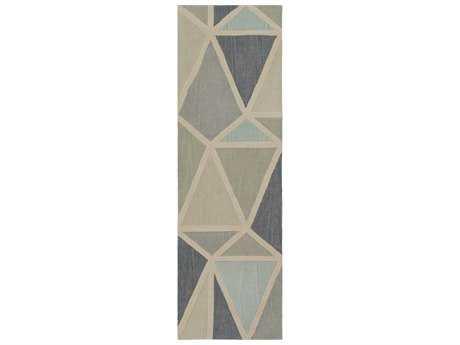 Surya Oasis 2'6'' x 8' Rectangular Ivory, Medium Gray & Sage Runner Rug
