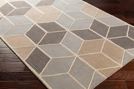 Surya Oasis Rectangular Light Gray, Charcoal & Taupe Area Rug