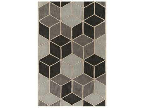 Surya Oasis Rectangular Charcoal, Light Gray & Khaki Area Rug