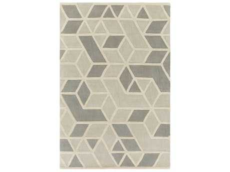 Surya Oasis Rectangular Light Gray, Medium Gray & Cream Area Rug