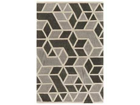 Surya Oasis Rectangular Charcoal, Medium Gray & Khaki Area Rug