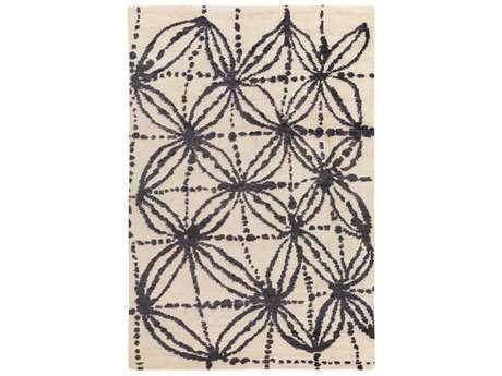 Surya Orinocco Rectangular Black, Cream & Light Gray Area Rug