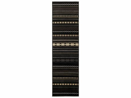 Surya Paramount 2'2'' x 7'6''' Rectangular Black Runner Rug SYPAR1047RUN