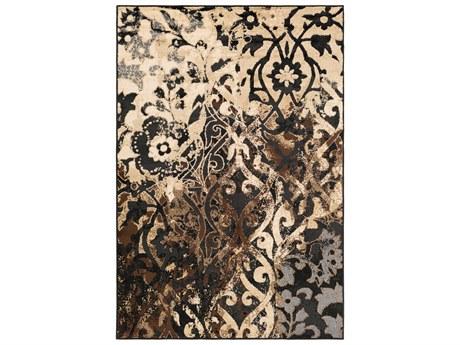 Surya Paramount Rectangular Black, Beige & Dark Brown Area Rug SYPAR1066REC