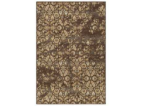 Surya Paramount Rectangular Dark Brown, Tan & Pale Blue Area Rug