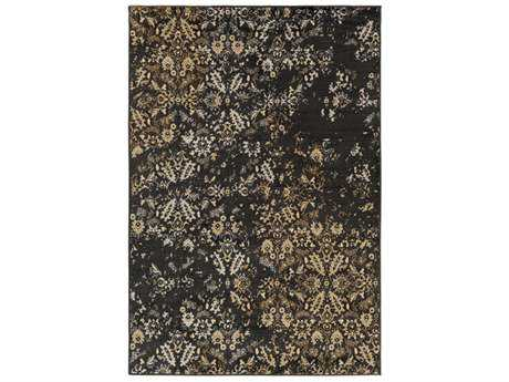 Surya Paramount Rectangular Black, Tan & Pale Blue Area Rug