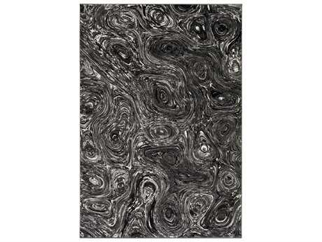 Surya Pepin Rectangular Charcoal, Medium Gray & Black Area Rug