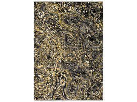 Surya Pepin Rectangular Medium Gray, Charcoal & Black Area Rug