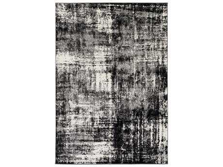 Surya Pepin Rectangular Charcoal, Black & Cream Area Rug