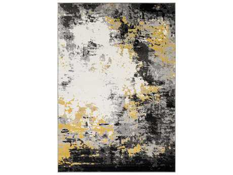 Surya Pepin Rectangular Charcoal, Black & Mustard Area Rug