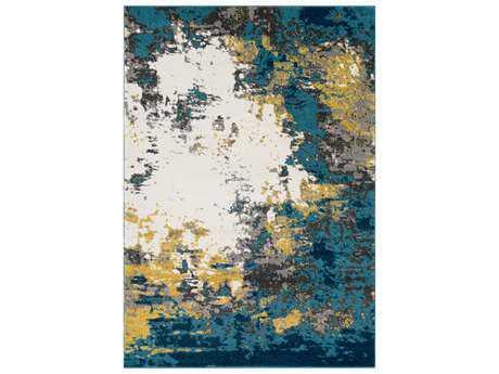 Surya Pepin Rectangular Aqua, Bright Blue & Mustard Area Rug