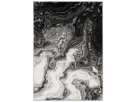 Surya Pepin Rectangular Black, Medium Gray & Cream Area Rug