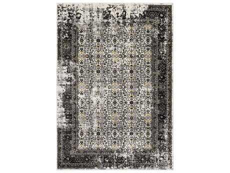 Surya Pepin Rectangular Black, Medium Gray & Mustard Area Rug
