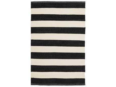 Surya Picnic Rectangular Black & Cream Area Rug