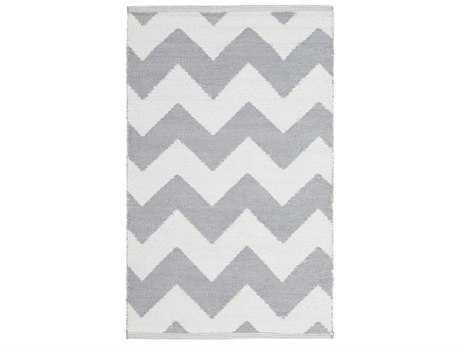 Surya Picnic Rectangular Medium Gray & White Area Rug