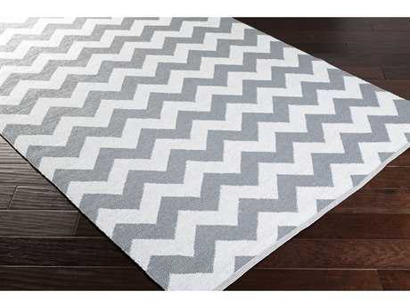 Surya Picnic Rectangular Medium Gray & White Area Rug