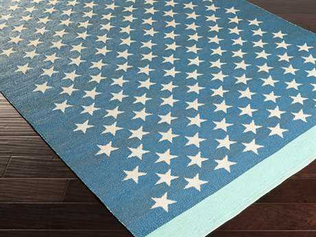 Surya Picnic Rectangular Teal Area Rug