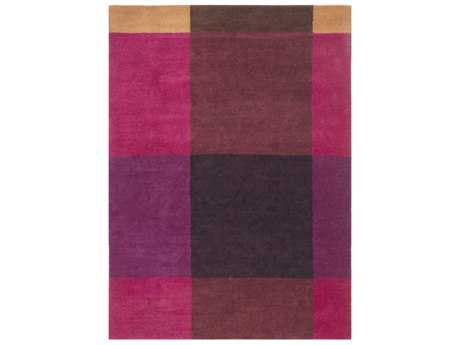 Surya Plaid Rectangular Burgundy, Eggplant & Garnet Area Rug