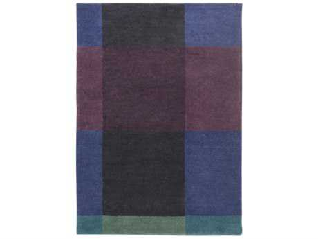 Surya Plaid Rectangular Navy, Eggplant & Black Area Rug