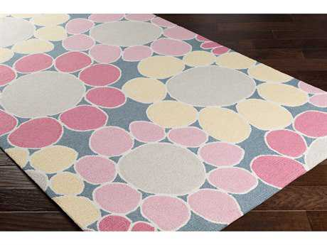 Surya Peek-A-Boo Rectangular Bright Pink, Pale Pink & Butter Area Rug