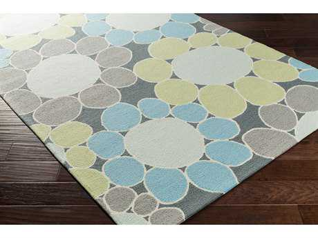 Surya Peek-A-Boo Rectangular Grass Green, Sky Blue & Pale Blue Area Rug