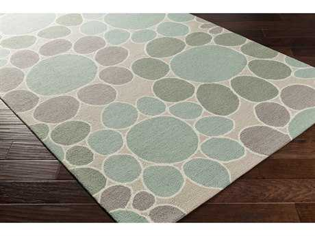 Surya Peek-A-Boo Rectangular Sage, Aqua & Medium Gray Area Rug