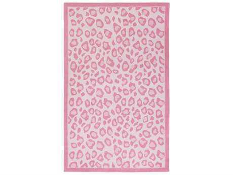 Surya Peek-A-Boo Rectangular Bright Pink, Blush & Pale Pink Area Rug