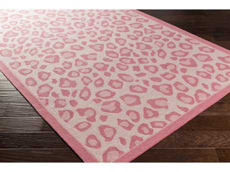 Surya Peek-A-Boo Rectangular Bright Pink, Blush & Pale Pink Area Rug