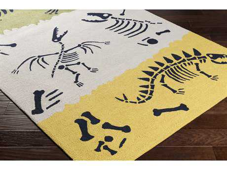 Surya Peek-A-Boo Rectangular Bright Yellow, Khaki & Grass Green Area Rug