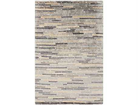 Surya Platinum Rectangular Gray Area Rug