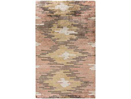 Surya Platinum Rectangular Orange Area Rug