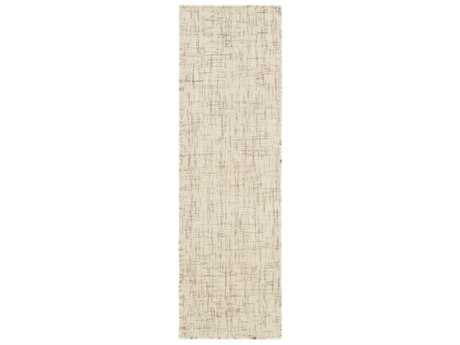 Surya Plymouth 2'6'' x 8' Rectangular Cream & Taupe Runner Rug