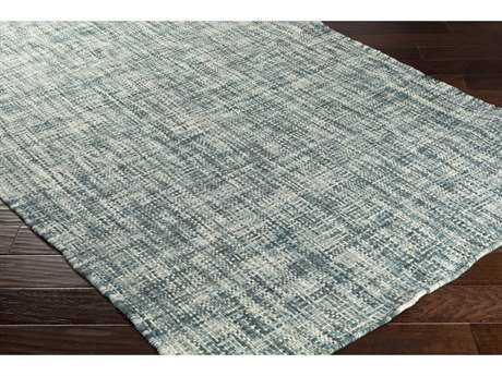 Surya Plymouth Rectangular Teal, Aqua & Cream Area Rug