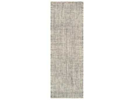 Surya Plymouth 2'6'' x 8' Rectangular Cream & Light Gray Runner Rug
