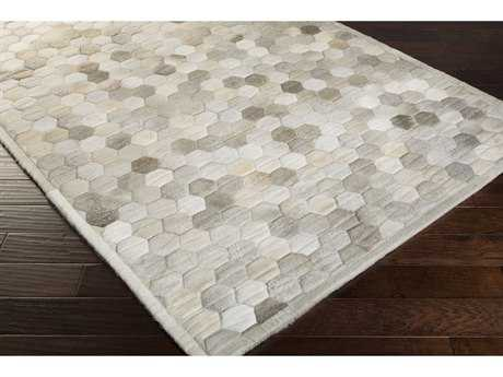 Surya Polar Rectangular Ivory, Medium Gray & Light Gray Area Rug