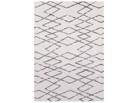 Surya Perla Rectangular White & Charcoal Area Rug