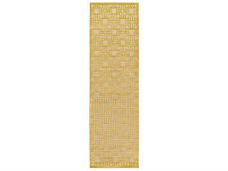 Surya Portera 2'6'' x 7'10'' Rectangular Mustard & Khaki Runner Rug