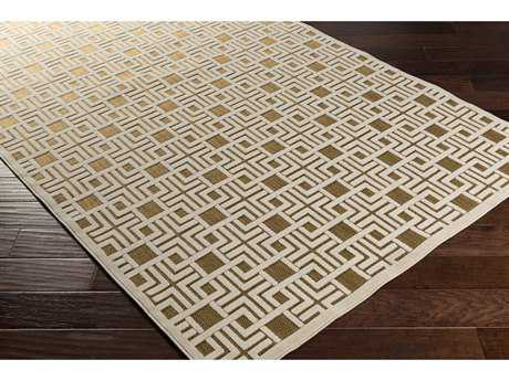 Surya Portera 2'6'' x 7'10'' Rectangular Light Gray & Tan Runner Rug