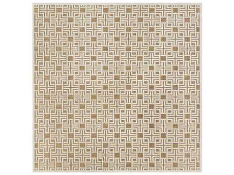 Surya Portera 7'6'' Square Light Gray & Tan Area Rug