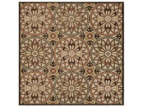 Surya Portera 7'6'' Square Rust, Black & Tan Area Rug