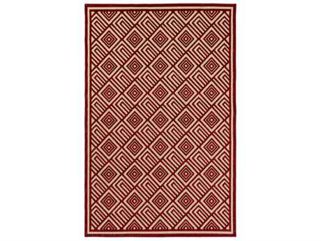 Surya Portera Rectangular Dark Red & Khaki Area Rug
