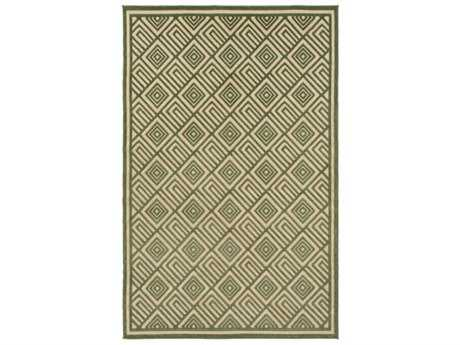 Surya Portera Rectangular Dark Green & Khaki Area Rug