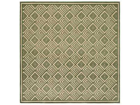 Surya Portera 7'6'' Square Dark Green & Khaki Area Rug