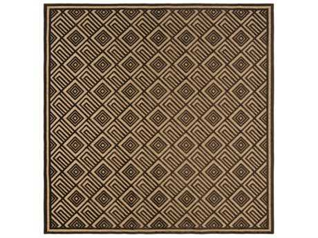 Surya Portera 7'6'' Square Dark Brown & Tan Area Rug